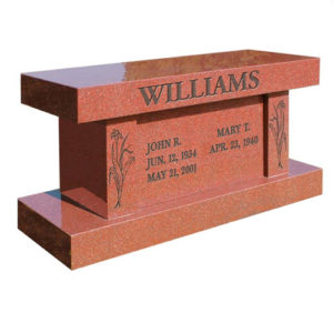 Red Granite Bench