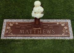 Matthews Bronze Grave Marker