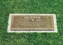 Pet Bronze Grave Marker