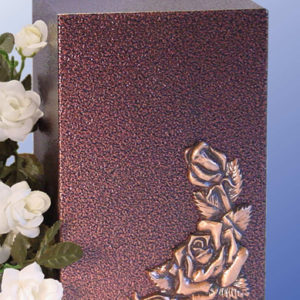 Climbing Rose Aluminum with a Bronzed Enamel Finish Urn