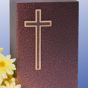 Cross Aluminum with a Bronzed Enamel Finish Urn