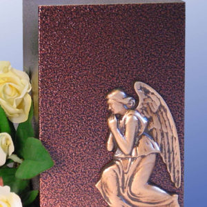 Praying Angel Aluminum with a Bronzed Enamel Finish Urn