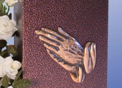 Praying Hands Aluminum with a Bronzed Enamel Finish Urn