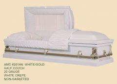 2014-white-20-gauge-non-gasketed-half-casket